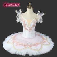White Swan Lake Ballet Tutu Ballet Professionnel Tutu Stage Costumes Classique Ballet Tutu Performance Vêtements Casse-Noisette SD0017