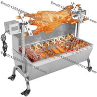 Trasporto libero 120 cm heavy duty agnello maiale capra carbone barbecue grill girarrosto spiedo raclette maiale torrefazione macchina con 60 kg motore