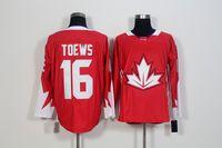 Coppa del mondo di hockey su maglie da uomo 16 Jonathan Toews 19 Joe Thornton 28 Claude Giroux 31 Prezzo di cura 37 Patrice Berg eron Jersey S-3XL