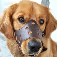 Focinho de cão de couro ajustável anti latido mordida mastigar produtos de treinamento do cão para pequenos médios grandes cães produtos para animais de estimação ao ar livre xs-xl
