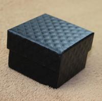 클래식 블랙 다이아몬드 질감 반지 상자 귀걸이 상자 최고의 선물 포장에 대 한 패션 고품질 쥬얼리 포장 상자 골 판지의 800 그램