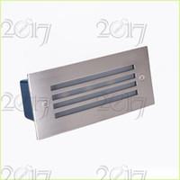야외 / 실내 led 계단 빛 3W 주도 벽 램프 야간 조명 단계 조명, recessed 바닥 빛, 110v 220v 방수 새 플로어 라이트