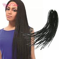 "Vorschleife 22 ""crotchet foziden ombre kanekalon flechten haarverlängerungen häkeln zöpfe box foziden haarverlängerungen senegalesische drehen haare"