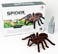 """التحكم عن 11 """"2ch مخيف مخيف لينة أفخم العنكبوت infrared rc الرتيلاء مخيف لعبة المزحة هدية نموذج"""