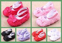 Оптовая Детская обувь детские мягкие нижние обувь розы принцесса обувь малыша обувь 0 - 1 год микс 6 Цвет 1 пара / лот