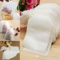Conjunto de bolsitas de té con cordón vacío filtro de hilo de cadena de papel bolsas de té 7x5cm H2010237