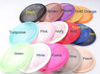 2016 여러 색상 13CM 라운드 SINAMAY 매혹 기 기본 새로운 DIY 여성 파티 매혹적인 모자 자료 10pcs / Lot 도매