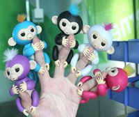 Stock ! 130mm Fingerlings colorés Finger Monkey Interactive Baby Monkey Sound Finger Motion Hanger Toy Gift Party Favor vs spinner