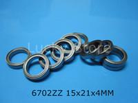6702ZZ подшипник бесплатная доставка 6702 6702ZZ 15x21x4 мм хромированная сталь радиальный металлический герметичный подшипник Тонкий настенный подшипник