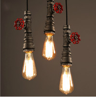 New Vintage Water Pipe Pendant Lights Industrial Edison Bulb...