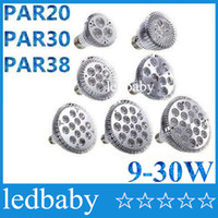 Dimmable Ampoule led par38 par30 par20 9W 10W 14W 18W 24W 30W E27 LED Spot Lamp downlight