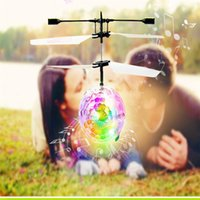 Wholesale- RC Flying Ball Helicopter Ball Built- in Disco Musi...