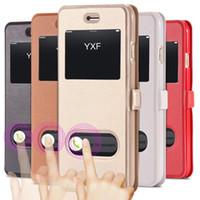 i6 / 6 Plus الفاخرة الذكية الواجهة الأمامية عرض جلد الوجه القضية لابل اي فون 6 4.7 بوصة لفون 6 زائد 5.5 fundas cover