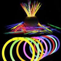 8 '' Çok Renkli Sıcak Glow Sopa Bilezik Kolye Parti LED Sopa Değnek Yenilik Oyuncak LED Vokal Konser LED Flaş Sopa C2917