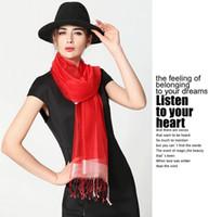 1 UNIDS otoño nueva moda mujer bufanda de Seda protector solar bufanda de la bufanda de la bufanda de seda del color puro señoras bufanda 200 * 90 cm envío gratis