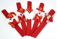 새해 파티 장난감 손목 장식 Christmas Patting Circle 프놈펜 팔찌 시계 크리스마스 어린이 선물 Santa Claus Snowman Deer