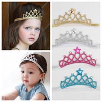 Baby Mädchen Stirnbänder Sparkle Crowns Kinder Gnade Krone Haarschmuck Tiaras Stirnbänder mit Stern Strass Haarschmuck
