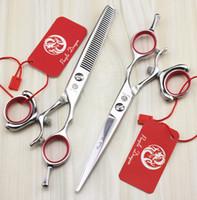 587 # 6.0 '' GRADO SUPERIOR Tijeras de peluquería 440C Girar la manija Tijeras de corte Tijeras de adelgazamiento Tijeras de pelo