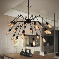 Spider Adjustable Chandelier Vintage Wrought iron Pendant Li...