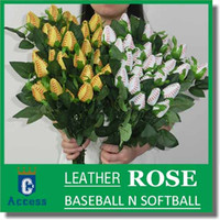 Softball Baseball leather long stem rose, game, sport, playe...