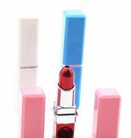 Nuova pipa in lega di alluminio con pipa in metallo multicolore a forma di rossetto