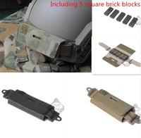 Custodia per accessori per casco FAST Fast Fast Rear Contrappeso Ops-Core Compreso 5 blocchi di mattoni quadrati Compete kit