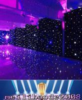 3mx6m LED Rideau De Noce LED Étoile Tissu Noir Étape Toile de Fond LED Étoile Rideau En Tissu Lumière Décoration De Mariage MYY1668