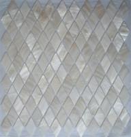 100% cáscara de mosaico de madreperla de concha de agua dulce para la decoración interior de la casa azulejo de la pared baño y cocina patrón de rombo blanco puro