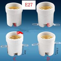 E27 suporte da lâmpada de cerâmica / parafuso Luz Casquilhos Tomada