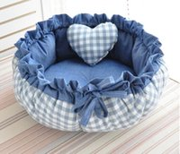Принцесса Стиль Sweety Собака Подушка Кошка Дом Кровать для Cat Подушка Kennel Ручки Диван с подушкой теплый спальный мешок Новое прибытие 1PC