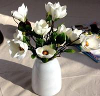 2016ベストセラー造花シングルマグノリアブランチの花の絹の結婚式の花の家の装飾hjia490