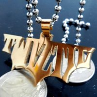 NOVO Batman Twiztid aço inoxidável colar homens de ouro ICP Alta polido jóias