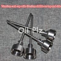 Chiodo Domeless titanio Ti 14mm 18mm Maschio FemminaCarb Cap Dabber Grade 2 VS Ceramic Nails Quarzo Nai Tubo acqua vetro Pong