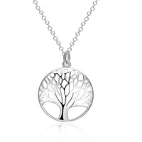 Life Tree Pendant Necklace Fashion Exquisite Classic Silver ...