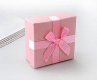 [Simple Siete] la moda del color sólido de la pulsera de la caja / pendiente clásico Caso / colgante de visualización / del anillo especial de embalaje / caja de joyería con la cinta