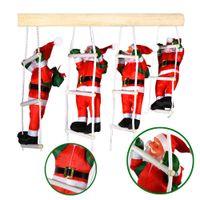 1 Set Babbo Natale Natale Ladder Decorazioni per feste di Natale Albero dei giocattoli di Natale Casa Regali per bambini Regalo di Capodanno