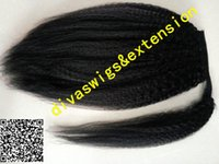 Wraps noir coiffures queue de cheval kinky droite grossier yaki cordon queue de cheval postiche cheveux brésiliens clips ins cheveux extension 120g