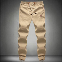 Wholesale- New Fashion Plus Size Men Pants Fit Cotton jogger ...