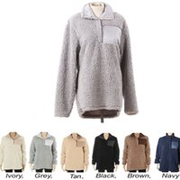 Stock High quality Fuzzy Sherpa Pullover long sleeve Soft pu...