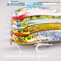 7pcs de slittering Minnow Fishing de pêche dure Lure Artificielle Bait Wobbler Fake Lure Fish Bait Pesca Pêche Accessoires Crochets