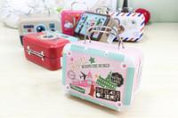Livraison gratuite Nouvelle valise rétro Candy Boîte de bonbons Sweet Love Wedding Party Cadeaux Boîtes de plaque d'étain