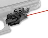 5mW مصغرة مسدس البصر بالليزر الأحمر مؤشر ليزر أحمر جبل على السكك الحديدية 20MM لنطاق البندقية أسود / الظلام الأرض