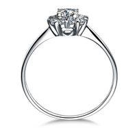 프린세스 컷 0.6 캐럿 SONA Simulated Diamond 여성을위한 약혼 반지 실버 925 독특한 결혼 반지