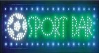 2016 encargo de la venta directa 10X19 pulgadas Barra de interior ultra brillante de fútbol corriendo estrellas del deporte LED al por mayor de la muestra abierta
