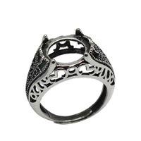 Серебряное филигранное кольцо Beadsnice из стерлингового серебра 925 пробы подходит для круглых кабошонов диаметром 12 мм для женщин. Кольца ручной работы.