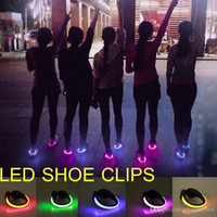 Novel products Night Running LED shoe clips for bike cycling...