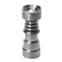 Universal Domeless Fumer Outils à main 4 en 1 gr2 Nail Titanium 14mm18mm pour bangs en verre de tuyau d'eau avec des plates-formes de DAB à joint masculin et femelle