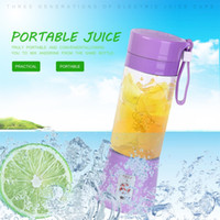 Portátil 380ml USB recargable fruta eléctrica juicer de mano fabricante de batidores batidores mini jugo squezers agua botella de agua