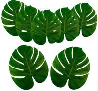 Feuilles de palmier artificielles Hawaiian Luau Thème Party Feuilles décoratives pour la décoration de mariage Noël Nouvel An G1088