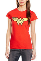 Wonder Woman T-shirt 3 Taille L XL XXL Rouge T-shirt En Coton Pur